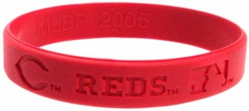 Official MLB Major League Baseball Team Rubber Bracelet Cincinnati Reds [Red]