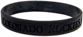 Official MLB Major League Baseball Team Rubber Bracelet Colorado Rockies [Black]