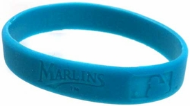 Official MLB Major League Baseball Team Rubber Bracelet Florida Marlins [Blue]