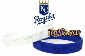 Official MLB Major League Baseball Team Rubber Bracelet Kansas City Royals [White]