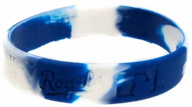 Official MLB Major League Baseball Team Rubber Bracelet Kansas City Royals [Marble Color]