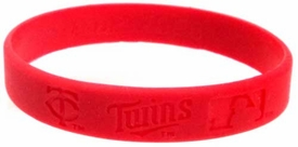 Official MLB Major League Baseball Team Rubber Bracelet Minnesota Twins [Red]