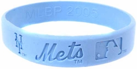 Official MLB Major League Baseball Team Rubber Bracelet Girls Style New York Mets [Blue]