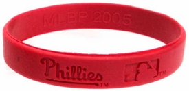 Official MLB Major League Baseball Team Rubber Bracelet Philadelphia Phillies [Red]