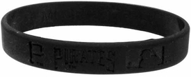 Official MLB Major League Baseball Team Rubber Bracelet Pittsburgh Pirates  [Black]