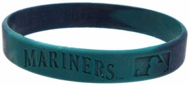 Official MLB Major League Baseball Team Rubber Bracelet Seattle Mariners [Marble Color]