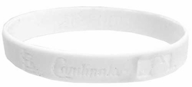 Official MLB Major League Baseball Team Rubber Bracelet St. Louis Cardinals  [White]