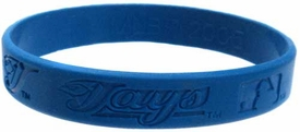 Official MLB Major League Baseball Team Rubber Bracelet Toronto Blue Jays  [Blue]