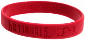 Official MLB Major League Baseball Team Rubber Bracelet Washington Nationals [Red]