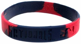 Official MLB Major League Baseball Team Rubber Bracelet Washington Nationals [Marble Color]