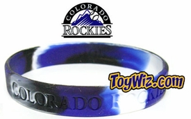 Official MLB Major League Baseball Team Rubber Bracelet Colorado Rockies Marble Color