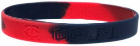 Official MLB Major League Baseball Team Rubber Bracelet Minnesota Twins Marble Color