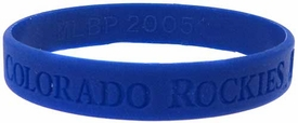 Official MLB Major League Baseball Team Rubber Bracelet Colorado Rockies Blue