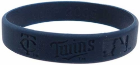 Official MLB Major League Baseball Team Rubber Bracelet Minnesota Twins [Navy Blue]