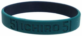 Official MLB Major League Baseball Rubber Bracelet Signature Series Ichiro Suzuki