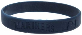 Official MLB Major League Baseball Team Rubber Bracelet Seattle Mariners [Navy Blue]