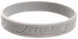 Official MLB Major League Baseball Team Rubber Bracelet Toronto Blue Jays  [Gray]