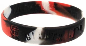 Official MLB Major League Baseball Team Rubber Bracelet San Francisco Giants [Marble Color]