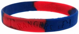 Official MLB Major League Baseball Team Rubber Bracelet Texas Rangers [Marble Color]
