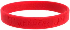 Official MLB Major League Baseball Team Rubber Bracelet Texas Rangers  [Red]