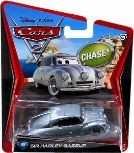 Disney / Pixar CARS 2 Movie 1:55 Die Cast Car #50 Sir Harley Gassup Chase Piece!