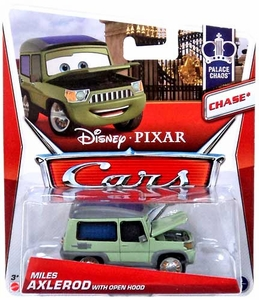 Disney / Pixar CARS MAINLINE 1:55 Die Cast Car Miles Axlerod {Open Hood Chase} [Palace Chaos 4/9]