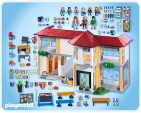 Playmobil School Set #4324 Furnished School Building