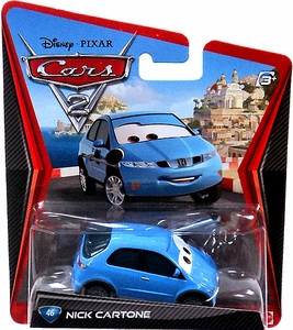 Disney / Pixar CARS 2 Movie 1:55 Die Cast Car #46 Nick Cartone