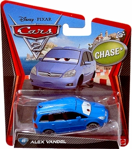 Disney / Pixar CARS 2 Movie 1:55 Die Cast Car #45 Alex Vandel Chase Piece!