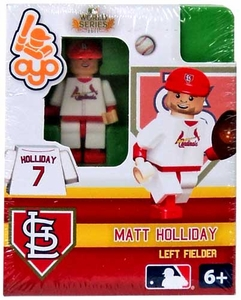 OYO Baseball MLB Building Brick 2011 World Series Minifigure Matt Holliday [St. Louis Cardinals]