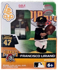 OYO Baseball MLB Generation 2 Building Brick Minifigure Francisco Liriano [Pittsburgh Pirates]