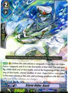 Cardfight Vanguard ENGLISH Blue Storm Armada Single Card RRR Rare BT08-007 Storm Rider, Basil