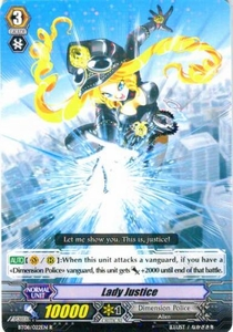 Cardfight Vanguard ENGLISH Blue Storm Armada Single Card Rare BT08-022 Lady Justice