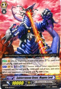 Cardfight Vanguard ENGLISH Blue Storm Armada Single Card Rare BT08-023 Subterranean Beast, Magma Lord