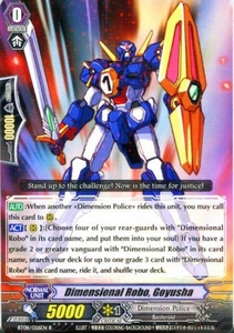 Cardfight Vanguard ENGLISH Blue Storm Armada Single Card Rare BT08-026 Dimensional Robo, Goyusha