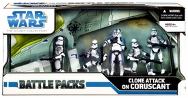 Star Wars Saga 2008 Legacy Collection Exclusive Action Figure Battle Pack Clone Attack On Coruscant