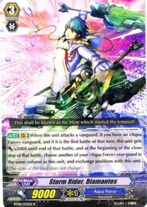 Cardfight Vanguard ENGLISH Blue Storm Armada Single Card Rare BT08-035 Storm Rider, Diamantes