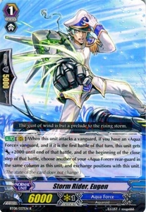 Cardfight Vanguard ENGLISH Blue Storm Armada Single Card Rare BT08-037 Storm Rider, Eugen