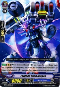 Cardfight Vanguard ENGLISH Blue Storm Armada Single Card Rare BT08-038 Torpedo Rush Dragon