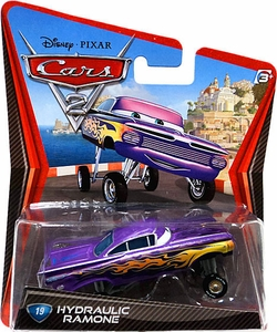 Disney / Pixar CARS 2 Movie 1:55 Die Cast Car #19 Hydraulic Ramone Hot!