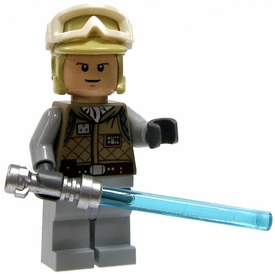 LEGO Star Wars LOOSE Mini Figure Luke Skywalker with in Hoth Survival Gear with Silver Lightsaber