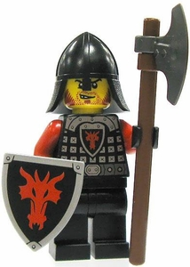 LEGO Castle LOOSE Minifigure Dragon Soldier with Long Axe & Shield