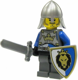 LEGO Castle LOOSE Minifigure King's Knight with Conical Helm, Sword & Shield