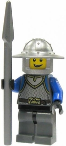 LEGO Castle LOOSE Minifigure King's Knight with Spear in Chainmail