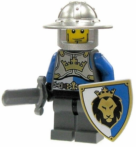 LEGO Castle LOOSE Minifigure King's Knight with Brimmed Helm, Sword & Shield