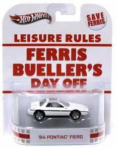 Hot Wheels Retro Ferris Bueller's Day Off 1:55 Die Cast Car'84 Pontiac Fiero