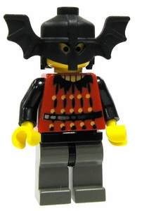 LEGO Kingdoms LOOSE Green Kingdom Mini Figure  Fright Night Mini Figure Bat Lord in Winged Helm [Army Builder]