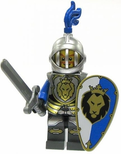 LEGO Castle LOOSE Minifigure King's Knight In Heavy Armor with Large Shield & Broadsword