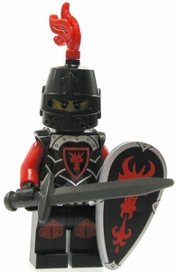 LEGO Castle LOOSE Minifigure Dragon Soldier Knight in Heavy Armor with Large Shield & Longsword