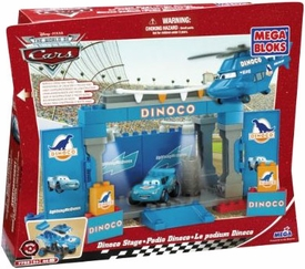 Disney Pixar Cars Movie Mega Bloks Set #7785 Dinoco Stage